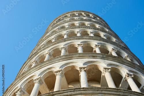Fototapeta Krzywa Wieża w Pizie, szczegóły, Piza, Włochy