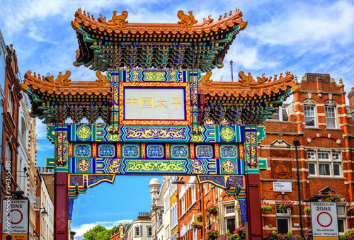 London China Town entrance gate, England