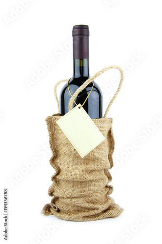 Wine bottle in bag