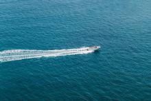 Speed Boat In The Open Sea
