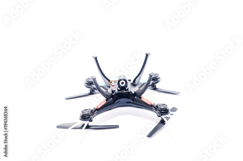 Tuinposter Helicopter Modern Technology Copter closeup Aircraft Drone