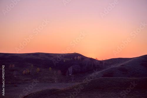 Papiers peints Corail Lovely view of landscape at sunrise.