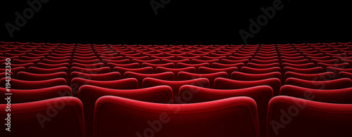 Fotomural  movie theater red seats 3d illustration