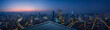 canvas print picture - Open space balcony with Kuala Lumpur cityscape skyline view  . Night scene .
