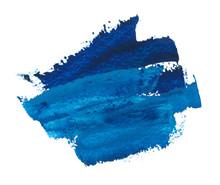 Dark Blue Oil Strokes Isolated On White