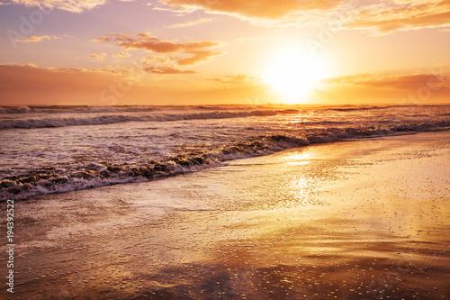Poster Mer coucher du soleil Sea sunset