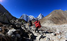 Nepalese Carrying Luggage Trek...