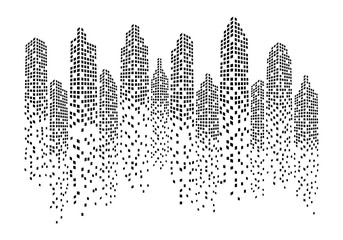 Fototapeta Modern City skyline . city silhouette