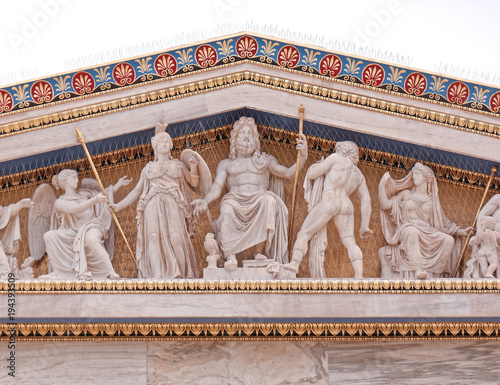 Zdjęcie XXL Ateny Grecja, Zeus, Atena i inni starożytni greccy bogowie i bóstwa