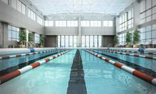 Swimming Pool Interior 3d Rend...