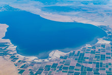 Aerial View Of Salton Sea And ...