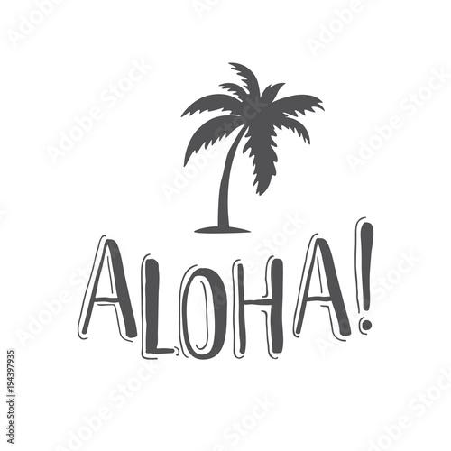 napis-wakacyjny-aloha-z-palma
