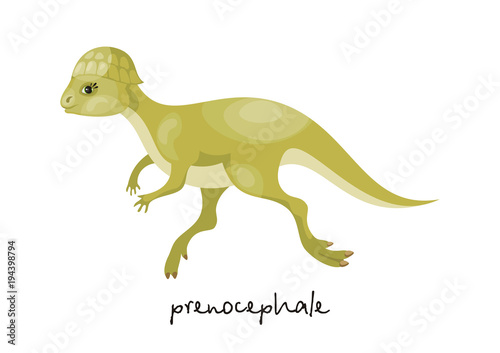 Photo  Colorful image of funny dinosaur in cartoon style isolated on a white background