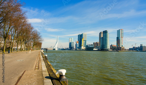 Deurstickers Rotterdam Ship port of Rotterdam