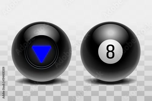 Two magic balls of predictions for decision-making. Fototapeta