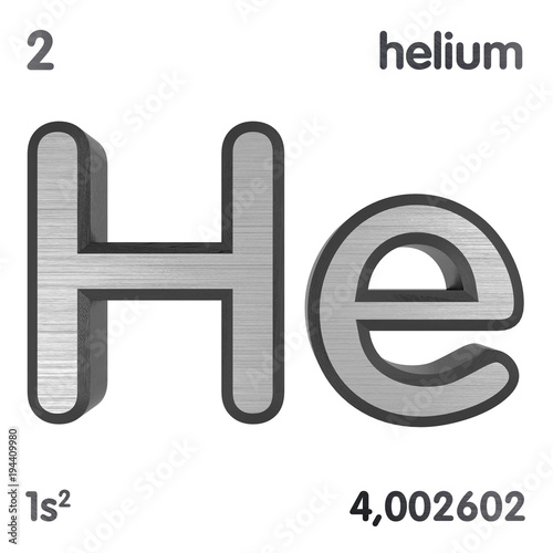 Helium He Chemical Element Sign Of Periodic Table Of Elements 3d