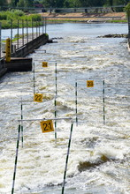 Canoe Slalom Course With Gate ...