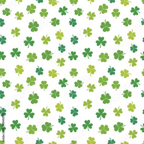 Photo sur Toile Artificiel St. Patrick's day vector shamrocks seamless pattern