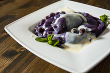 Dumplings With Blueberries And...