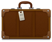 Old Vintage Style Suitcase