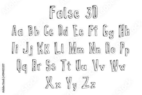 False 3d Font Alphabet Buy This Stock Illustration And Explore