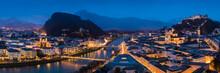Panorama Der Stadt Salzburg Mi...