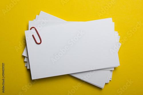 Valokuva  Business cards Mockup on color background