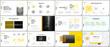 Minimal presentation templates. Tech elements on white background. Technology sci-fi concept vector design. Presentation slides for flyer, leaflet, brochure, report, marketing, advertising, banner