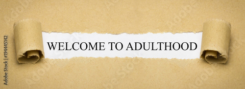 Welcome to Adulthood Wallpaper Mural