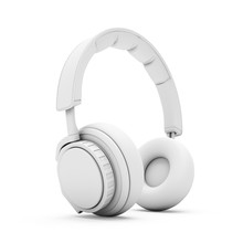 3D Rendering White Headphones ...