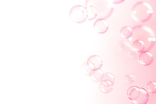 Abstract Pink Soap Bubbles Flo...