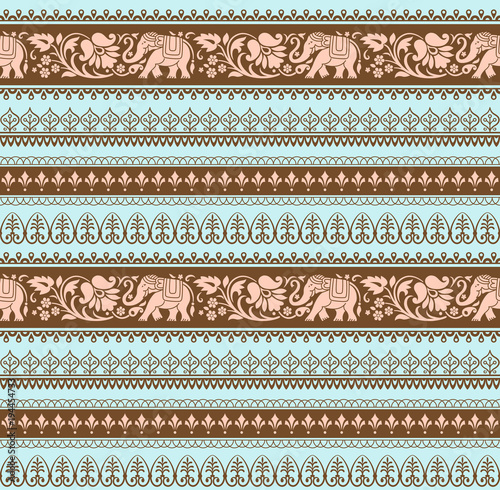 Foto  Seamless pattern with included pattern brushes