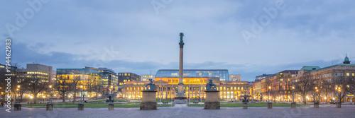 Vászonkép Panorama Stuttgart - Germany