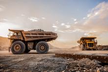 Mining Dump Trucks Transportin...