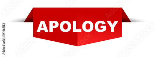 Photo banner apology