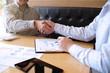 Image business mans handshake. Business partnership meeting concept.