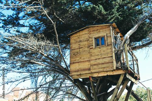 Leinwand Poster casa en el arbol