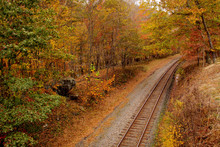 Railroad Tracks Fading Into Di...