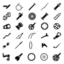 Fresh Bicycle Part Icons Pack....
