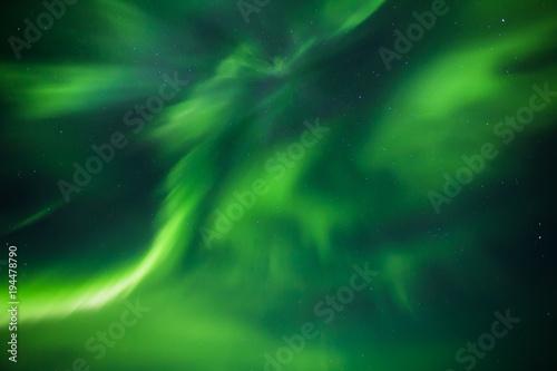 Foto auf Gartenposter Nordlicht Northern lights background