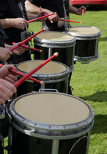 Close Up Of Drummers Playing I...