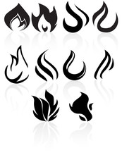 Black Flame Icons.