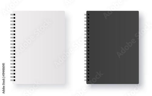 Realistic blank notebook - stock vector. Tablou Canvas