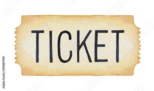 Cuadros en Lienzo Entry ticket illustration