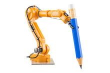 Robotic Arm With Pencil, 3D Re...