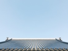 Traditional Japanese Building Home Rooftop