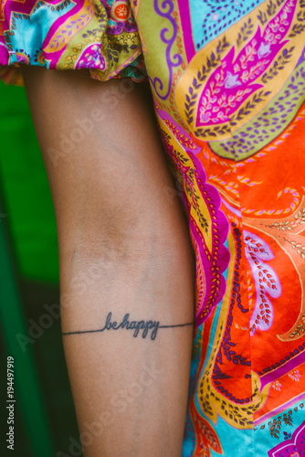 Be happy tattoo Poster