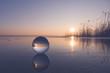 canvas print picture - Glaskugel auf dem Grimnitzsee - Perspektive