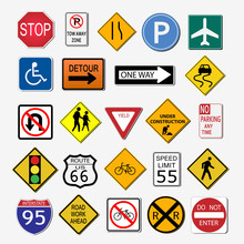 Road Signs Illustration