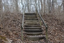 The Old Wooden Steps Up The Hi...
